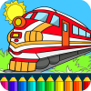 Train drawing game for kids app by Coloring Games