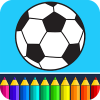 Fooball Kids Color Game App by Coloring Games