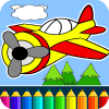 Planes: painting game for kids App by Coloring Games
