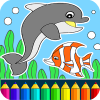 Dolphins and fish app by Coloring Games