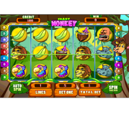 Crazy Monkey Slots HD App by Mister Fresh Magic