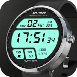 Military Digital Watch Face App by RichFace