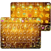 Golden Star Emoji Keyboard App by Colorful Design