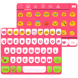 Cute Pink Love Emoji Keyboard App by Colorful Design