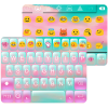 Pink Cloud Emoji Keyboard Skin App by Colorful Design