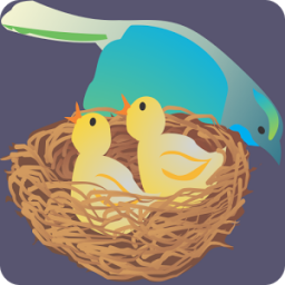 Mommy bird and her chick App by kiddoware