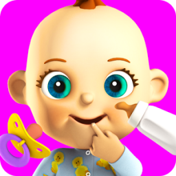 Talking Babsy Baby: Baby Games App by Kaufcom Games Apps Widgets