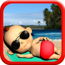 My Baby: Babsy at the Beach 3D App by Kaufcom Games Apps Widgets