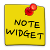Note Widget app by Dagsverket