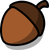 +acorn+nut+food+ clipart