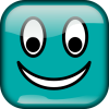 +happy+smiley+emoticon+emoji+blue+teal+ clipart