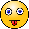 +smiley+tongue+ clipart