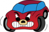 +cartoon+car+red+angry+ clipart