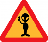 +outer+space+wierd+Warning+for+aliens+ clipart