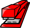 +education+supply+red+stapler+ clipart