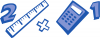 +education+supply+ruler+and+calculator+ clipart