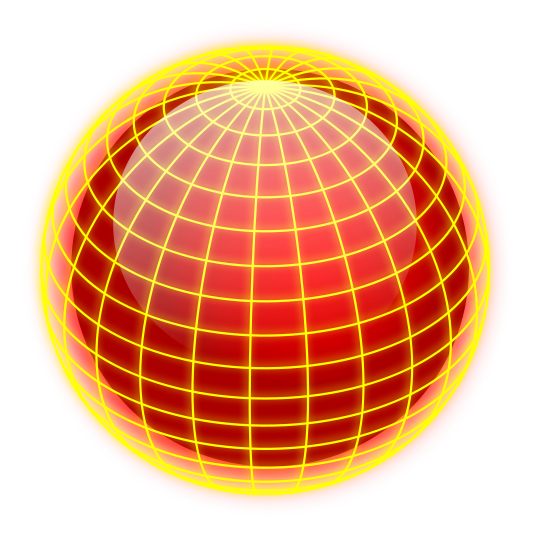 education sphere globe yellow lines on red  clipart
