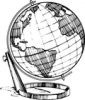 +education+sphere+globe+BW+ clipart