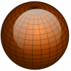 +education+sphere+globe+black+lines+on+brown+ clipart