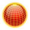 +education+sphere+globe+yellow+lines+on+red+ clipart