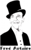 +famous+people+celebrity+dancer+Fred+Astaire+w+label+ clipart