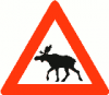 +animal+canine+Norwegian+elk+warning+ clipart