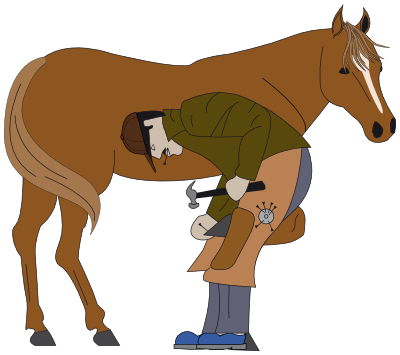animal ungulate mammal Equidae shoeing horse  clipart
