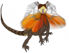 +animal+Frill+necked+lizard+dragon+ clipart
