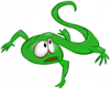 +animal+lizard+frightened+green+ clipart