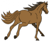 +animal+mammal+horse+running+away+ clipart
