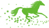 +animal+mammal+horse+running+in+stars+ clipart