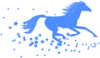 +animal+mammal+horse+running+in+stars+blue+ clipart