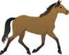 +animal+mammal+horse+trotting+ clipart