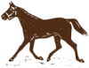 +animal+mammal+horse+trotting+brown+ clipart