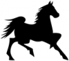 +animal+mammal+horse+trotting+silhouette+ clipart