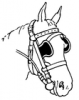 +animal+mammal+horse+with+blinders+ clipart