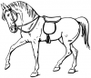 +animal+ungulate+mammal+Equidae+Walking+horse+outline+1+ clipart