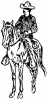 +animal+ungulate+mammal+Equidae+cowboy+on+horse+2+ clipart