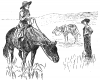 +animal+ungulate+mammal+Equidae+cowgirl+on+horse+ clipart