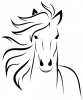+animal+ungulate+mammal+Equidae+horse+portrait+ clipart