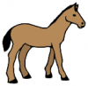 +animal+ungulate+mammal+Equidae+horse+simple+ clipart
