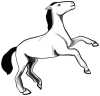 +animal+ungulate+mammal+Equidae+rearing+horse+2+ clipart