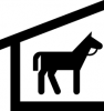 +animal+ungulate+mammal+Equidae+stable+ clipart