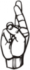 +signal+german+sign+language+hand+communication+r+ clipart