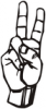 +signal+german+sign+language+hand+communication+v+ clipart