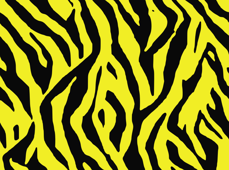 tile pattern design animal stripes yellow  clipart