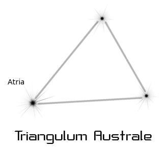 astronomy astrology space constellation triangulum australe  clipart