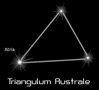 astronomy astrology space constellation triangulum australe black  clipart