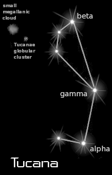 astronomy astrology space constellation tucana black  clipart