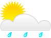 +climate+weather+clime+atmosphere+simple+weather+set+sun+bright+sun+by+rain+cloud+ clipart